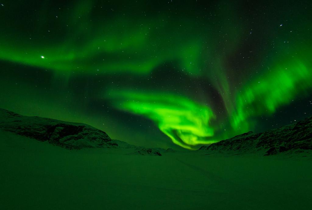Zorza polarna nad Grenlandią