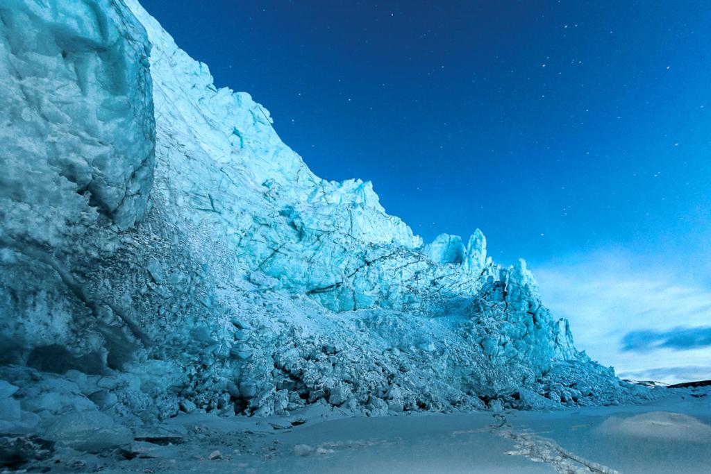 Czoło lodowca na Grenlandii