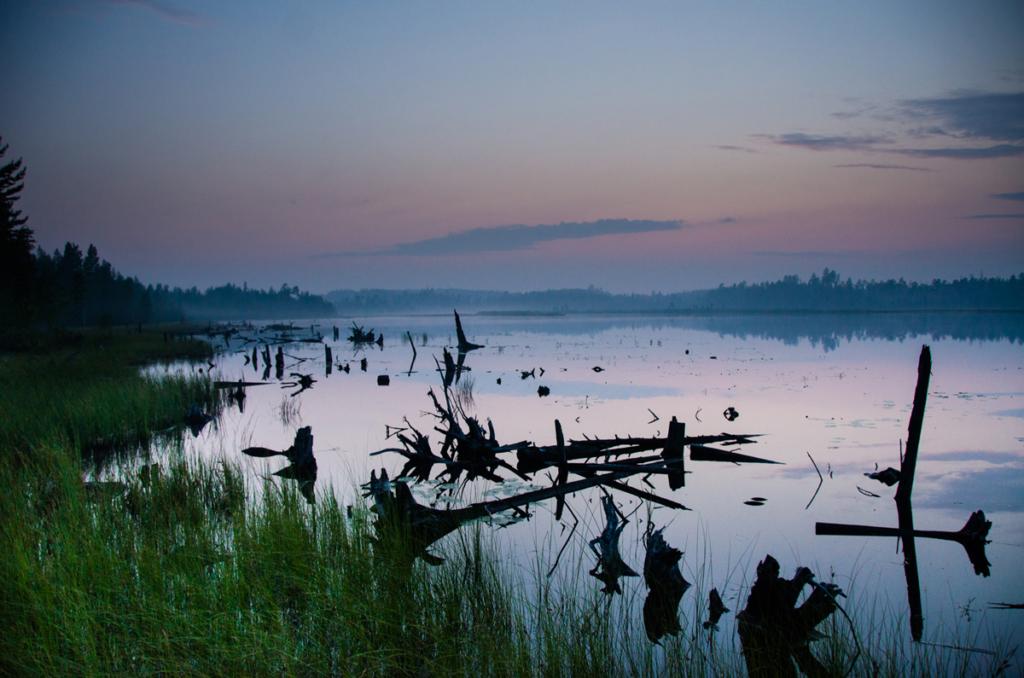 zachód słońca w Karelii, Rosja