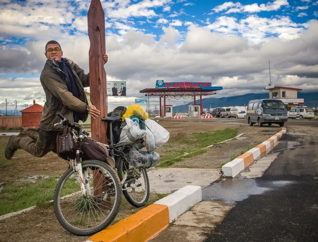 Rower kupiony w Rosji, z prowizorycznymi sakwami, które były niedostępne w 2008 roku w Irkucku