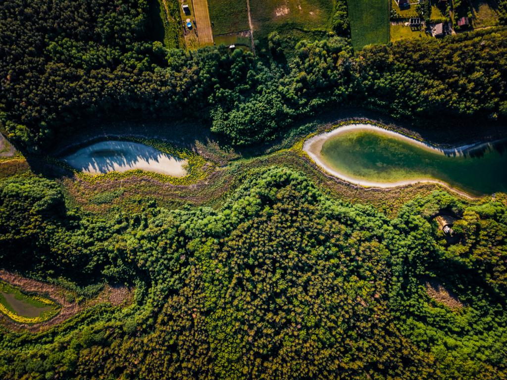 wysychające jeziora niedaleko konina