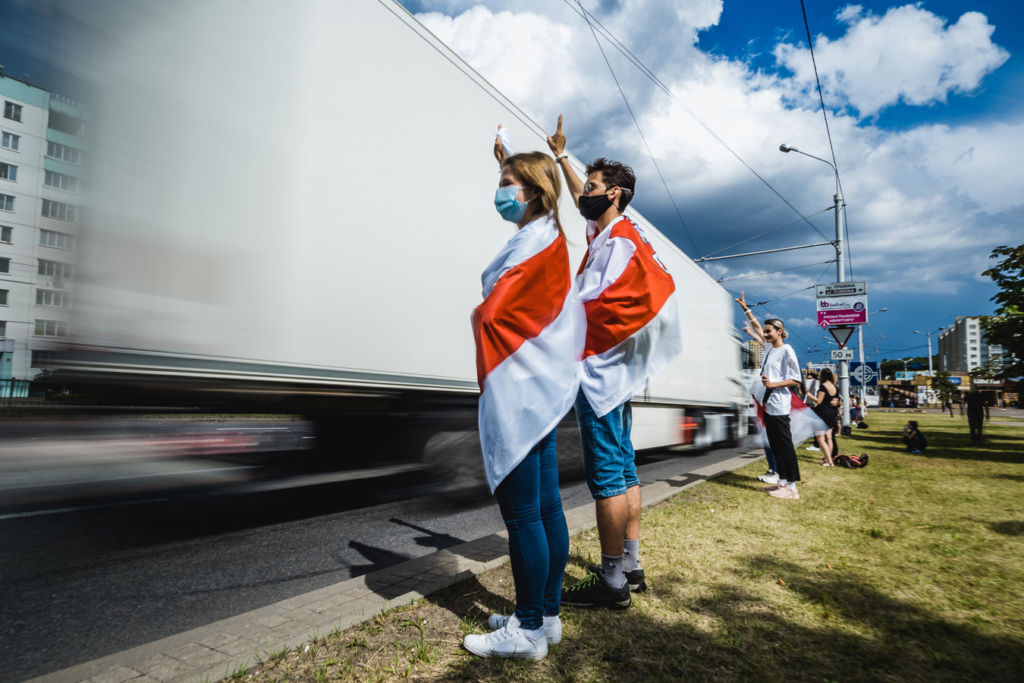 rewolucja na Białorusi łancuch