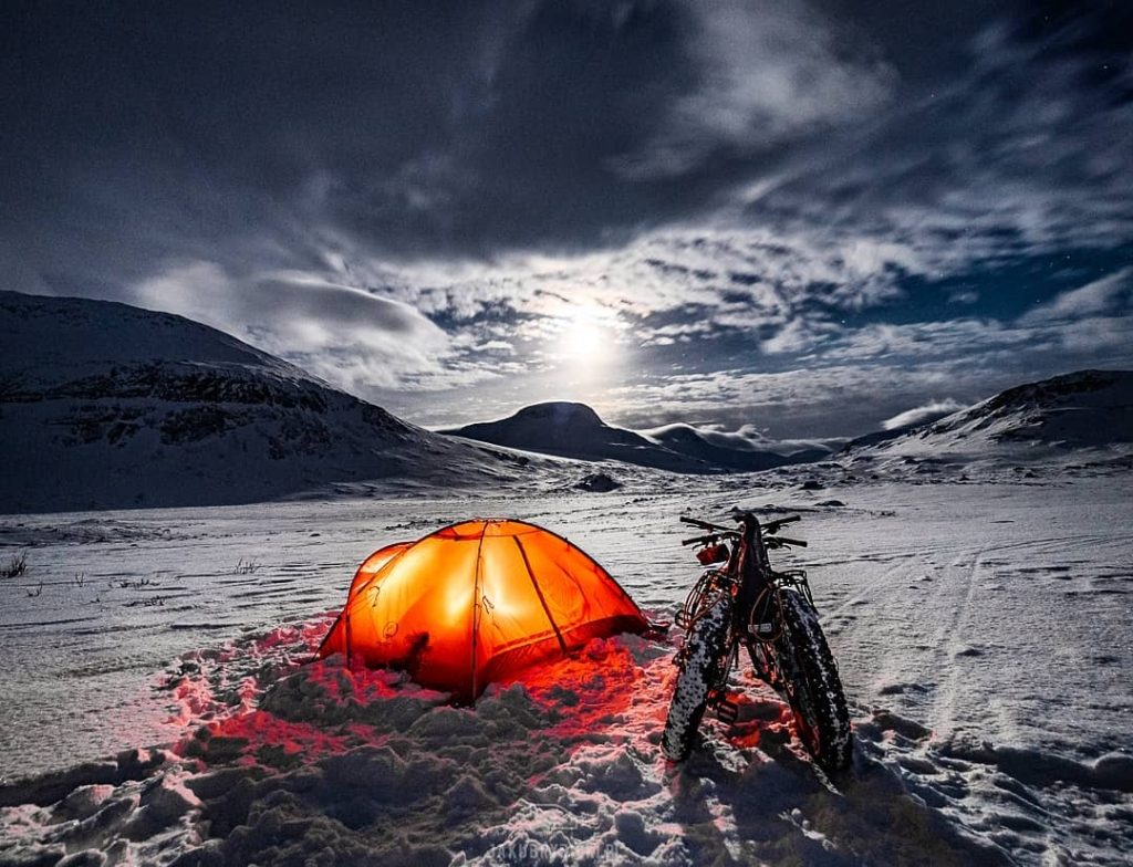 Zimowe podróże rowerowe