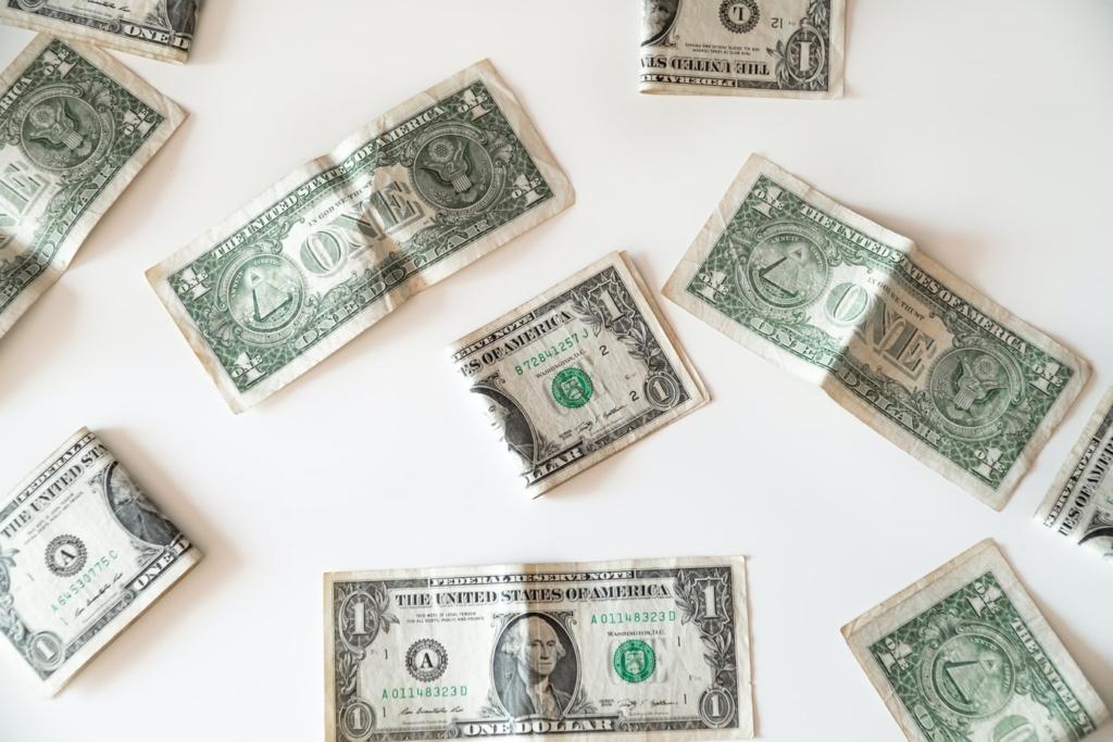 Zdjęcie banknotów jednodolarowych